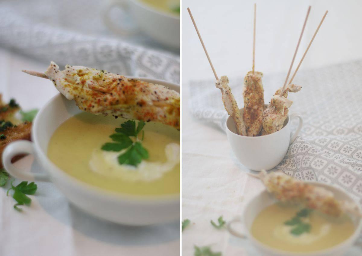 Suppe aus Patinaken und Kartoffeln