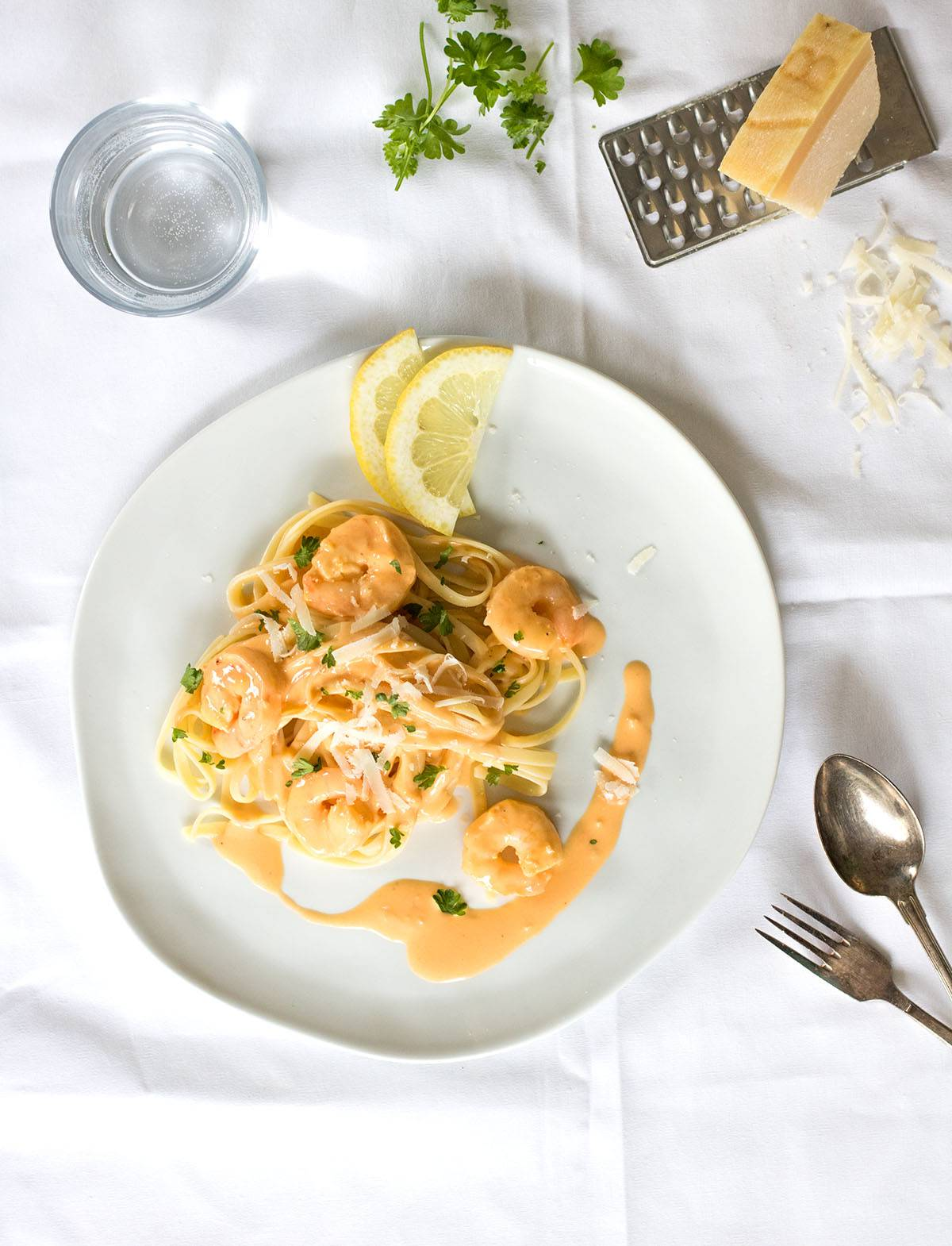 Nudeln mit Scampi