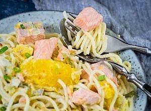 Lachs in Orangensauce:ein schnelles Mittagsgericht
