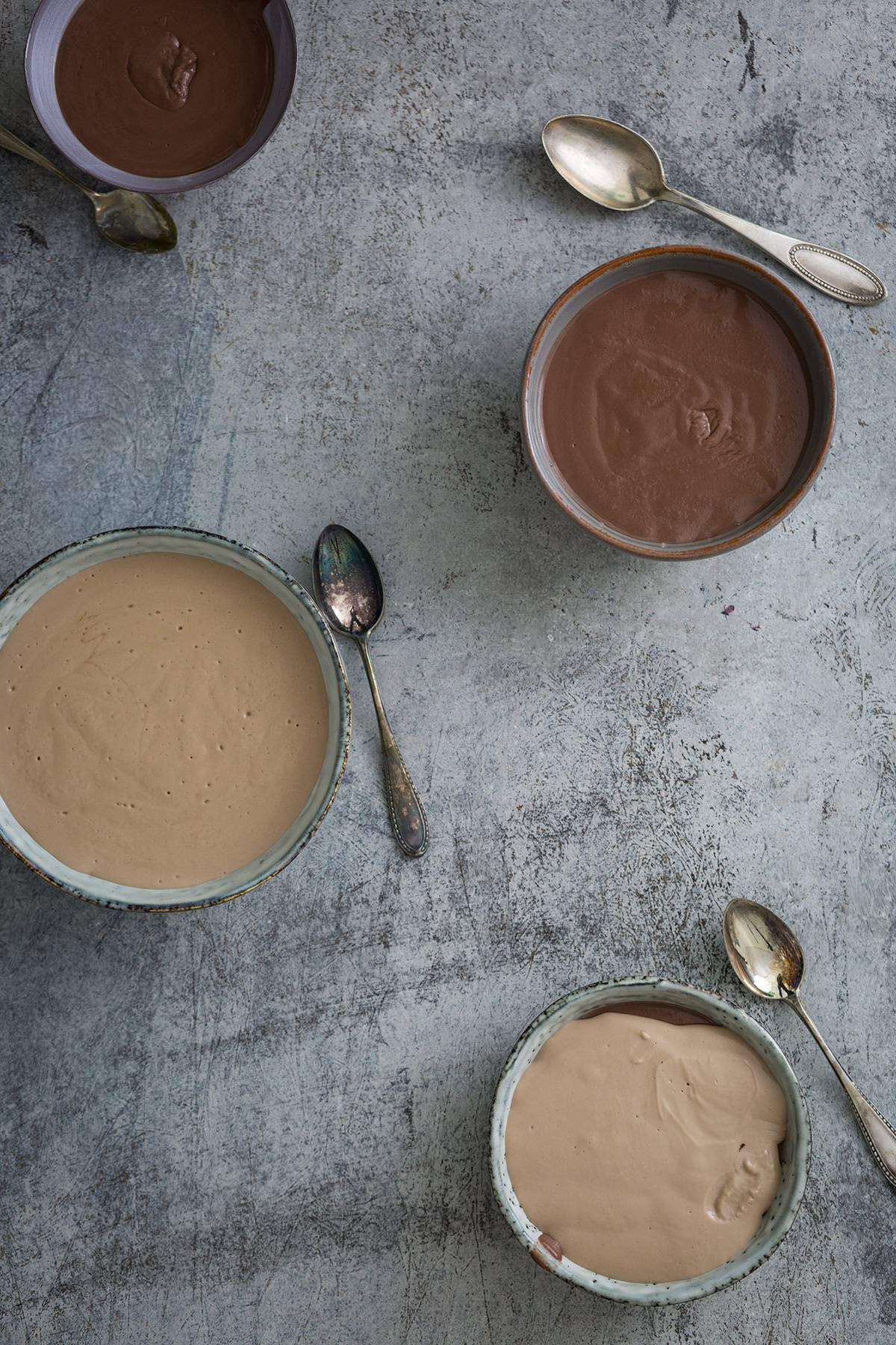 Schokoladenpudding aus Kinderschokolade