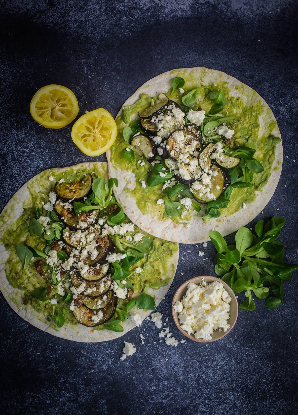 Avocado Wraps ein toller Pausensnack