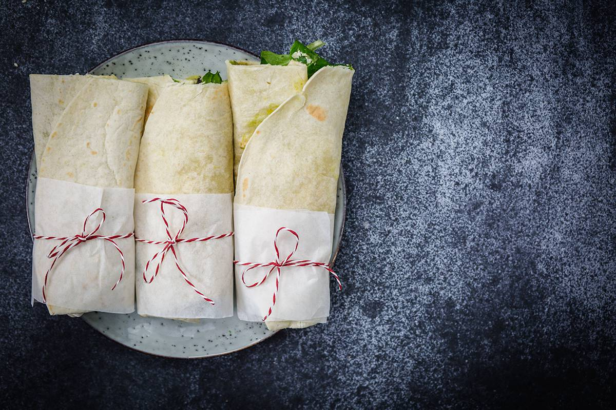 leckere Avocado Wraps