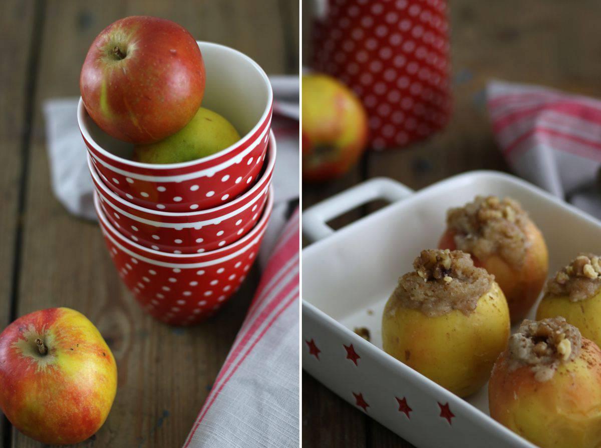 Bratapfel mit weihnachtlicher Vanillesauce