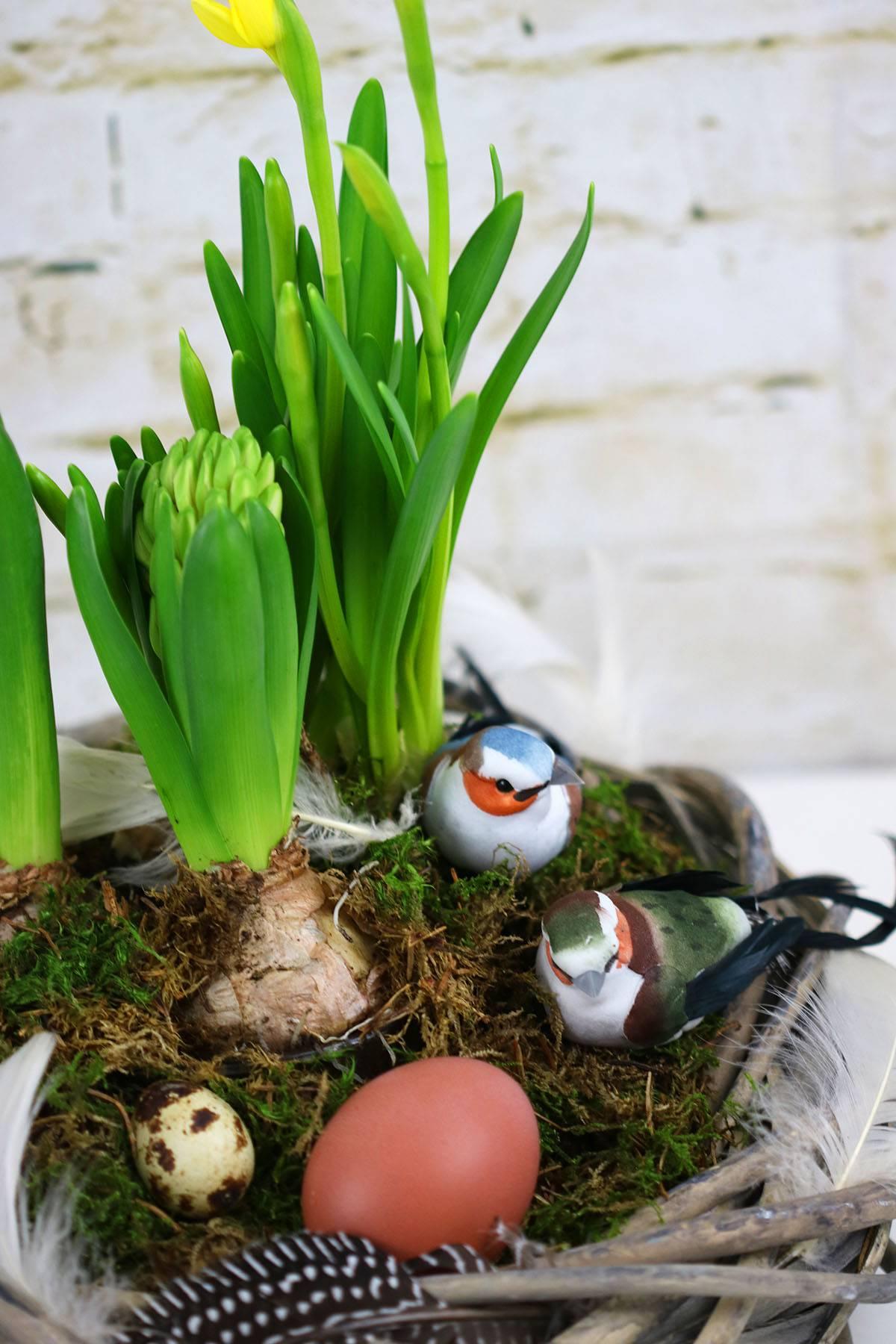 Frühlingskranz basteln