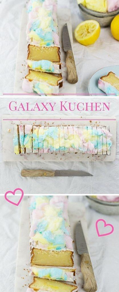 Galaxy Kuchen - mit diesem einfachen Rezept ist der Trendkuchen Ruck Zuck fertig und kommt bei den Kids garantiert gut an
