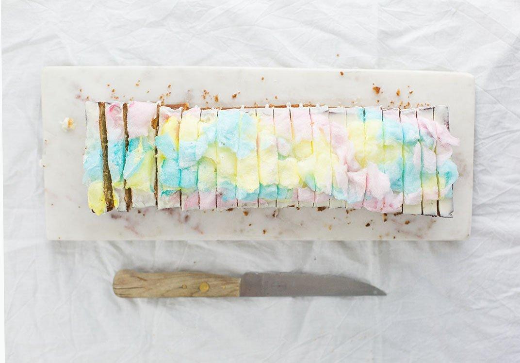 Galaxy Kuchen ist der Trend momentan. Dieser süße Glitzer Kuchen kommt bei den Kids garantiert gut an