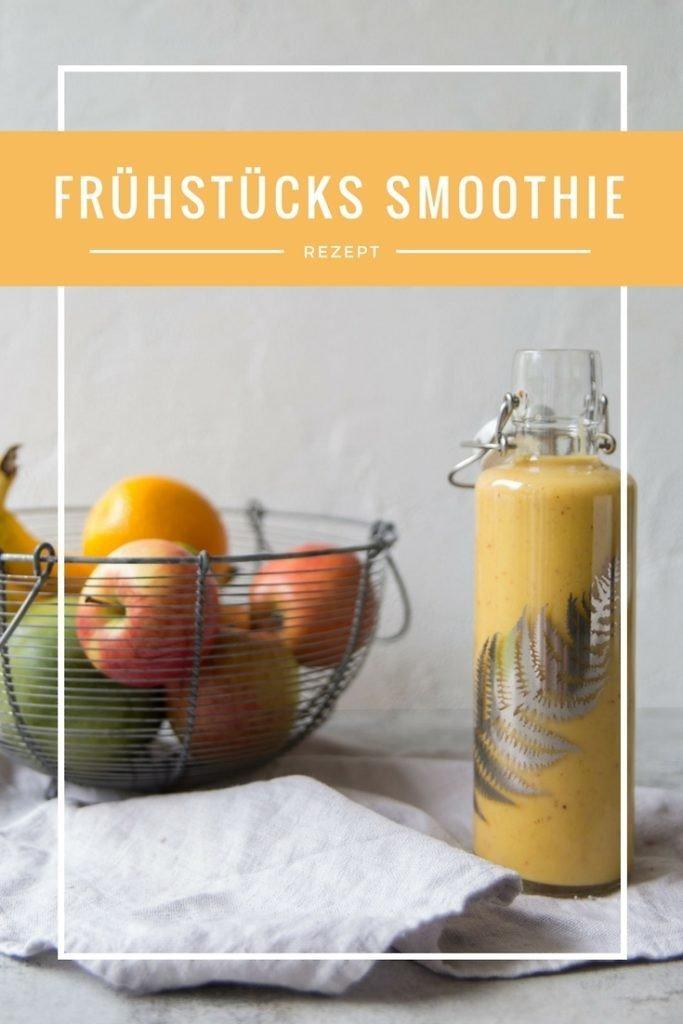 Frühstücks Smoothie Rezept mit Haferflocken