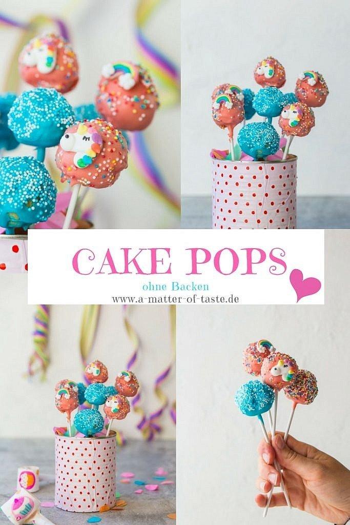 Cake Pops ohne Backen -ganz einfach selber machen. Genial für den Kindergeburtstag oder die nächste Party