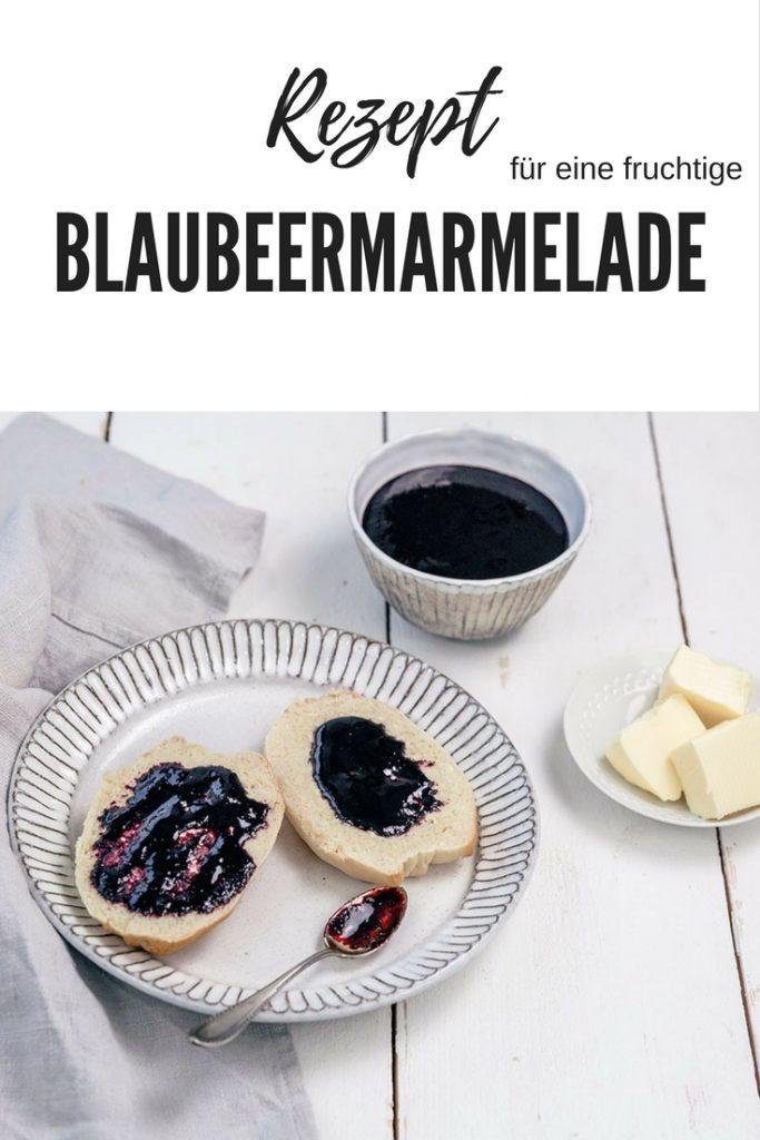 Rezept für eine fruchtige Blaubeermarmelade mit und ohne Thermomix