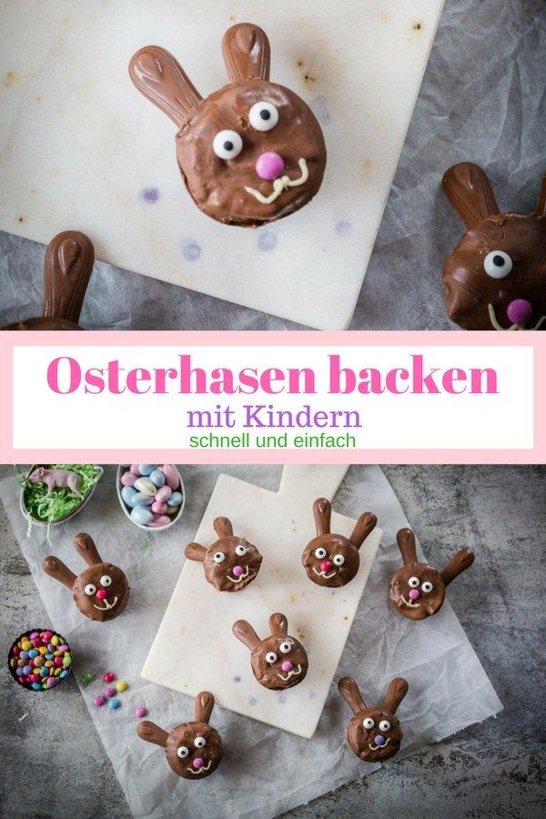 Osterhasen backen mit Kindern ist ganz einfach. Dieses Rezept für Hasenmuffins sind schön schokoladig und im Nu fertig. Mit dem Thermomix geht es noch schneller.