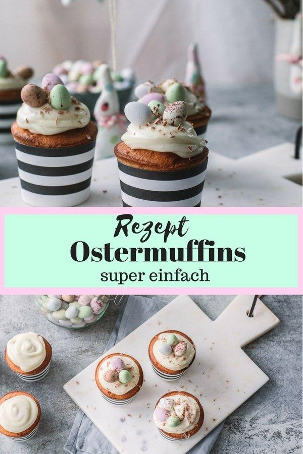 Diese kleinen Ostermuffins dürfen auf keiner Ostertafel fehlen. Das Rezept ist super einfach und eignet sich auch perfekt für den Thermomix. Das Frosting ist aus Schokolade und Frischkäse