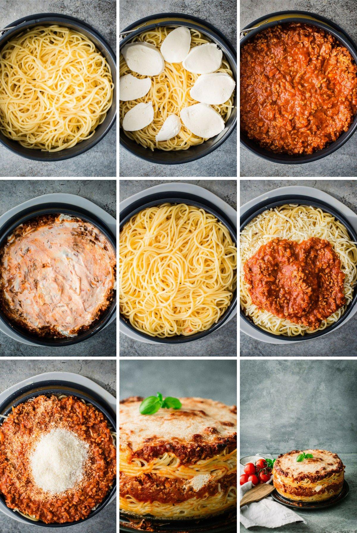 Spaghetti Torte Schritt fuer Schritt Anleitung