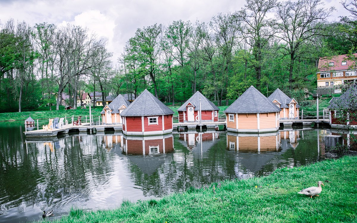 Weimarer Land schwimmende Hütten