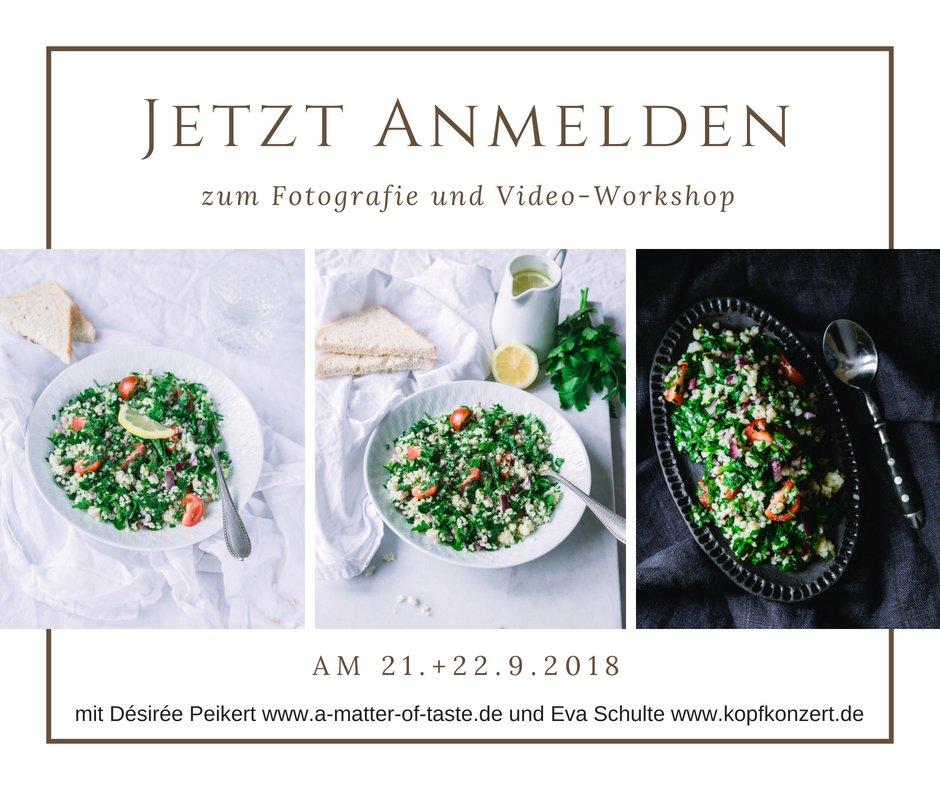 Food Fotografie und Video workshop