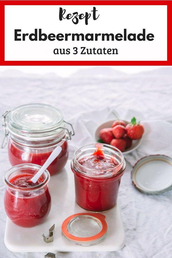 Leckere Erdbeermarmelade ganz einfach selber machen. Das Rezept ist auch für den TM5 geeignet. Alternativ  kann das Rezept ohne Zucker gekocht werden. Und mit den kostenlosen Etiketten ist die fruchtige Marmelade ein tolle Geschenk.