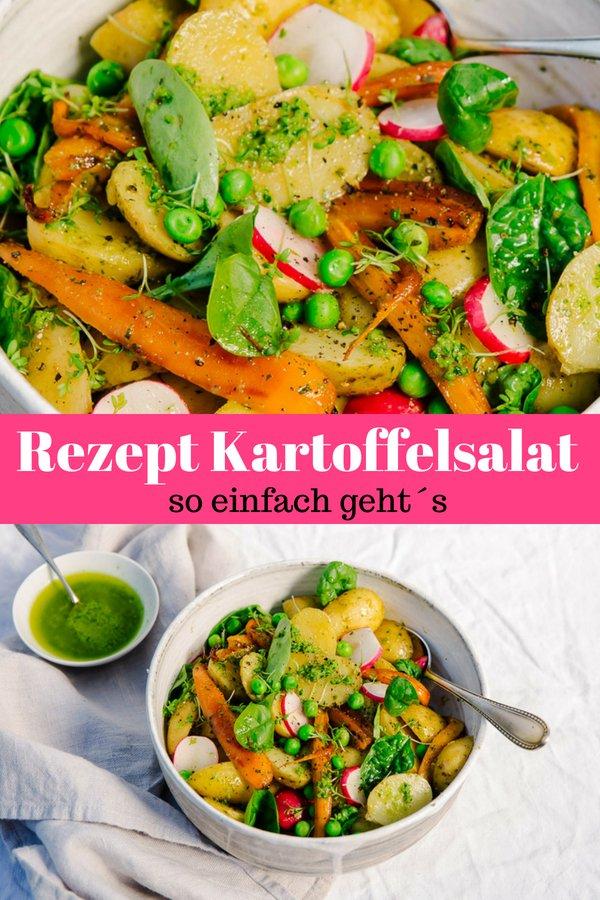 Rezept für einen sommerlichen Kartoffelsalat mit Radieschen. Schnell und einfach