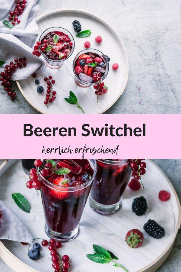 Rezept Beeren Switchel- erfrischend und fruchtig. Der ideale alkoholfreie Sommercocktail