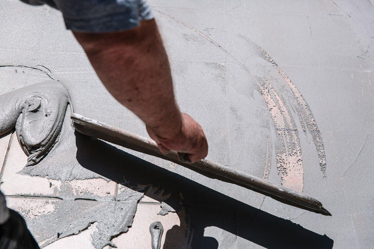 Terrassengestaltung mit Beton Mineral