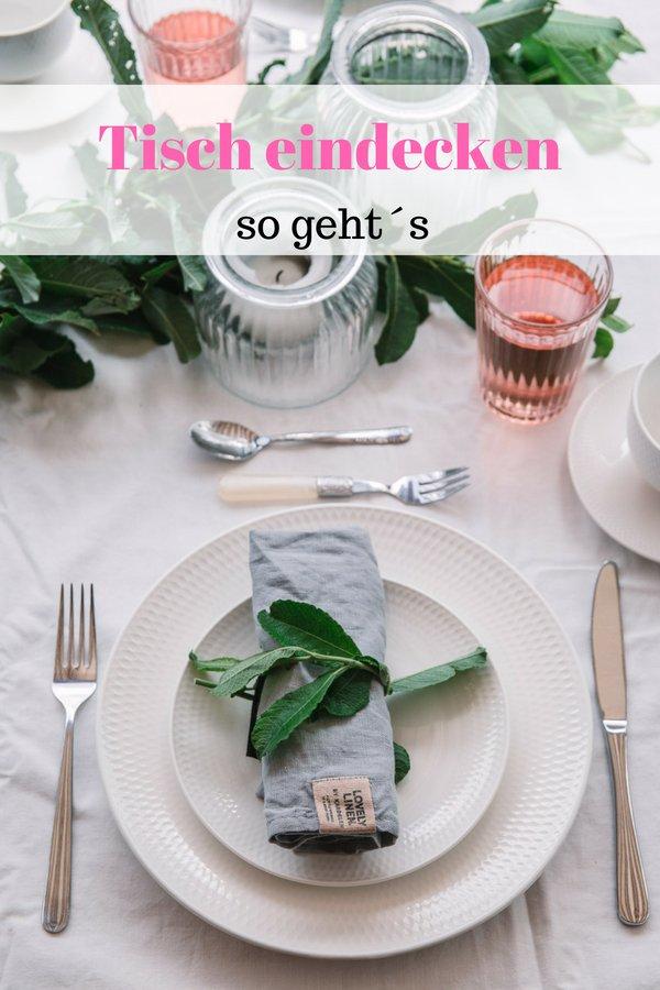 Tisch eindecken- so einfach geht´s. Mit kostenloser Grafik zum Ausdrucken . Plus Idee für eine Sommer Deko für ihren Tisch.