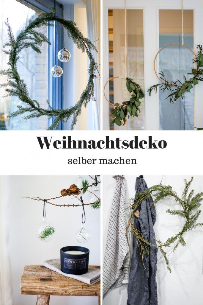 Weihnachtsdeko selber machen aus Naturmaterialien im angesagten Skandi-Style