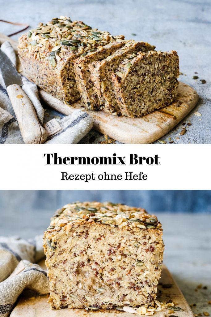 Rezept für ein einfaches Thermomix Brot ohne Hefe. Mega saftig und lecker.