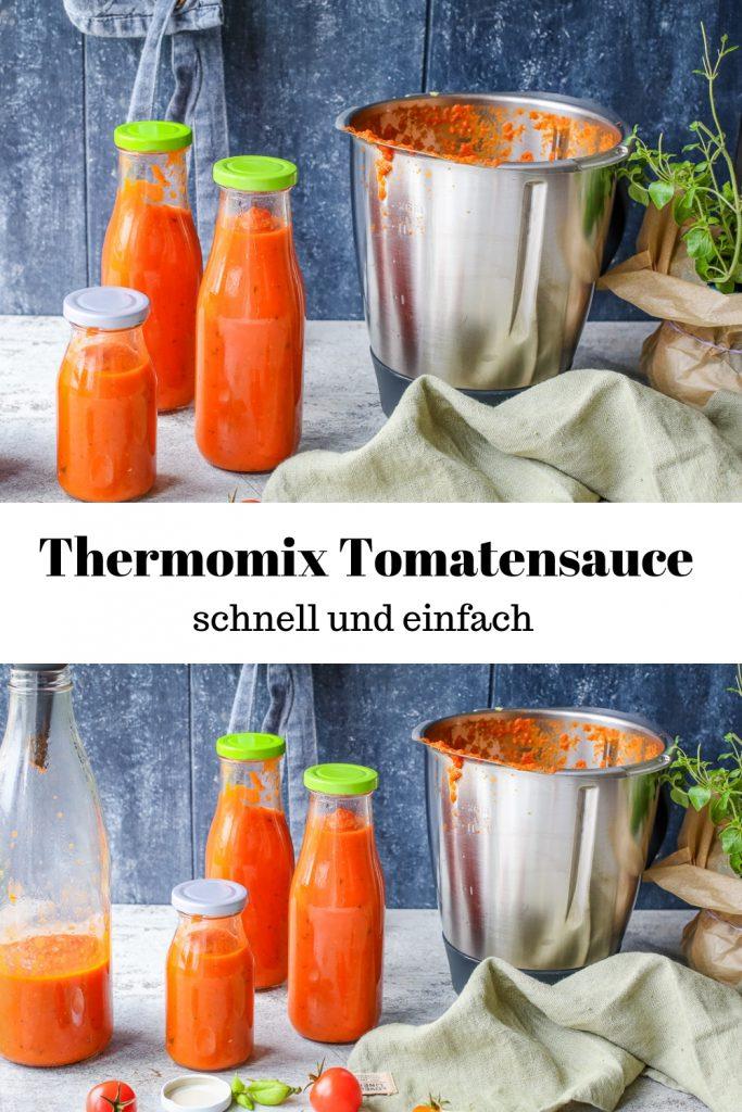 Rezept für eine schmelle und einfache Tomatensauce für den Thermomix.