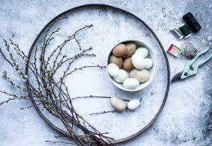 Osterdeko basteln – toller Osterkranz zum Hängen
