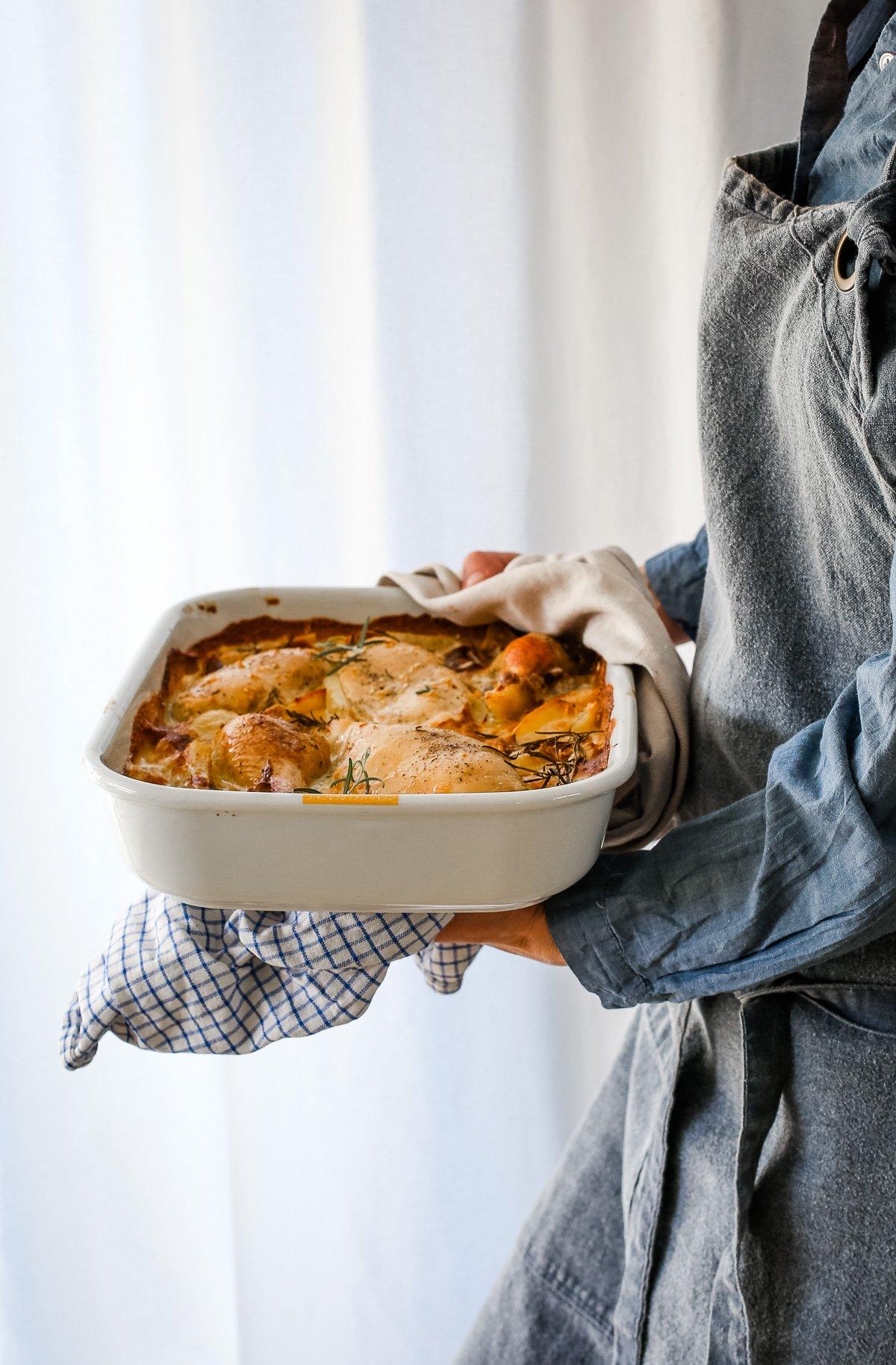 extrem leckere Hähnchenpfanne aus dem Ofen
