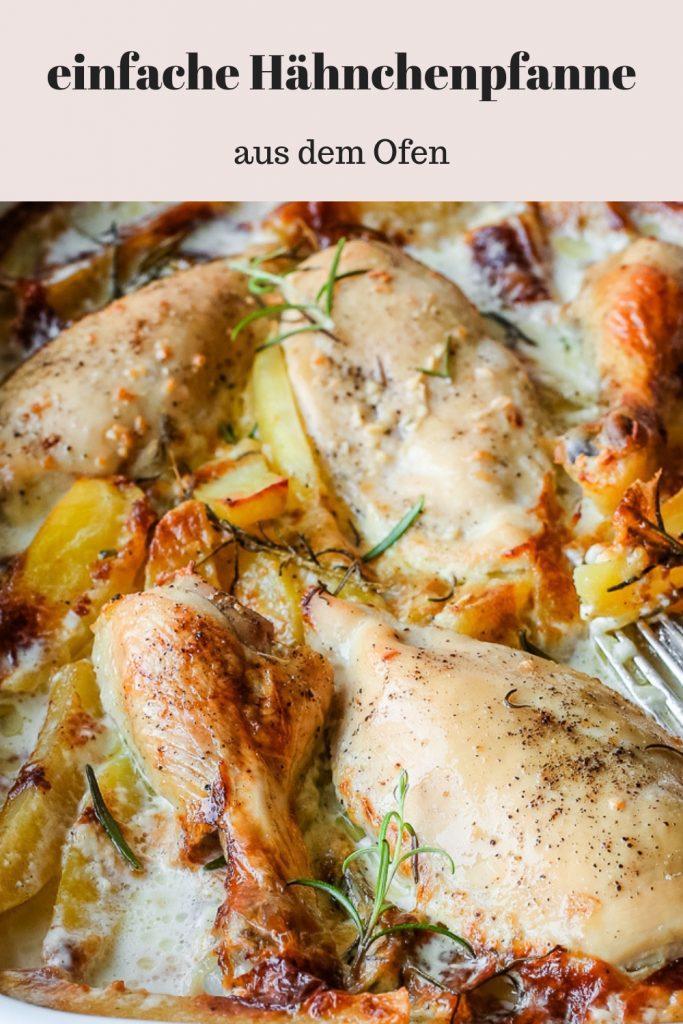 cremige Hähnchenpfanne aus dem Ofen. Super einfach und extrem lecker