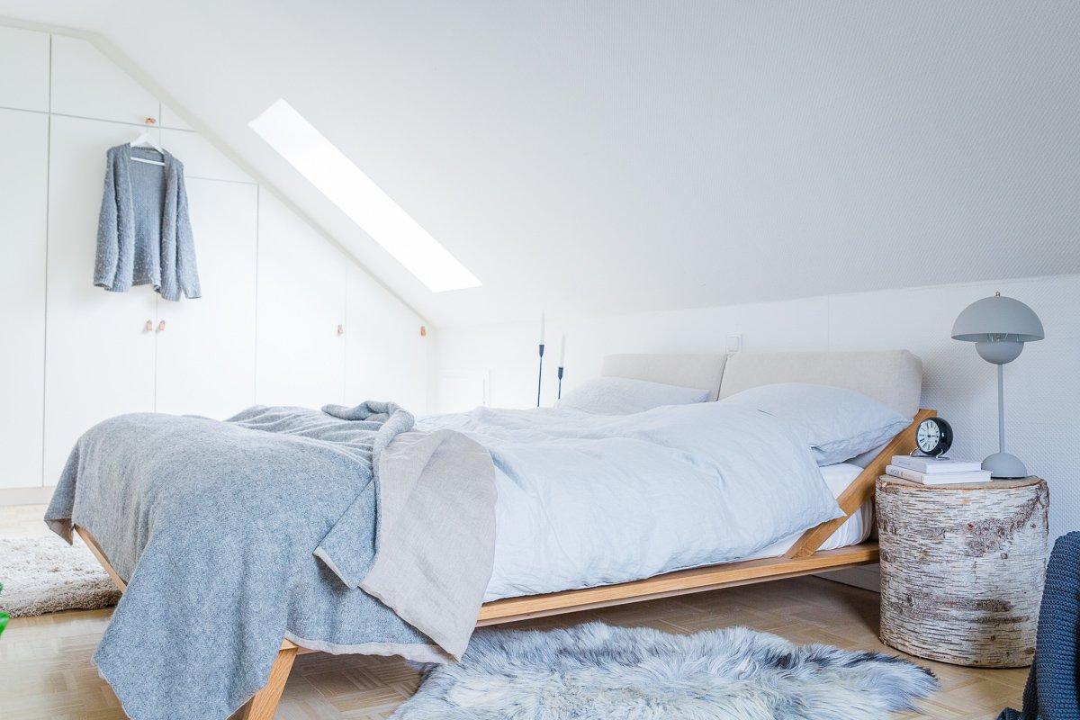 Schlafzimmer einrichten mit Schräge { unser Schlafzimmer im