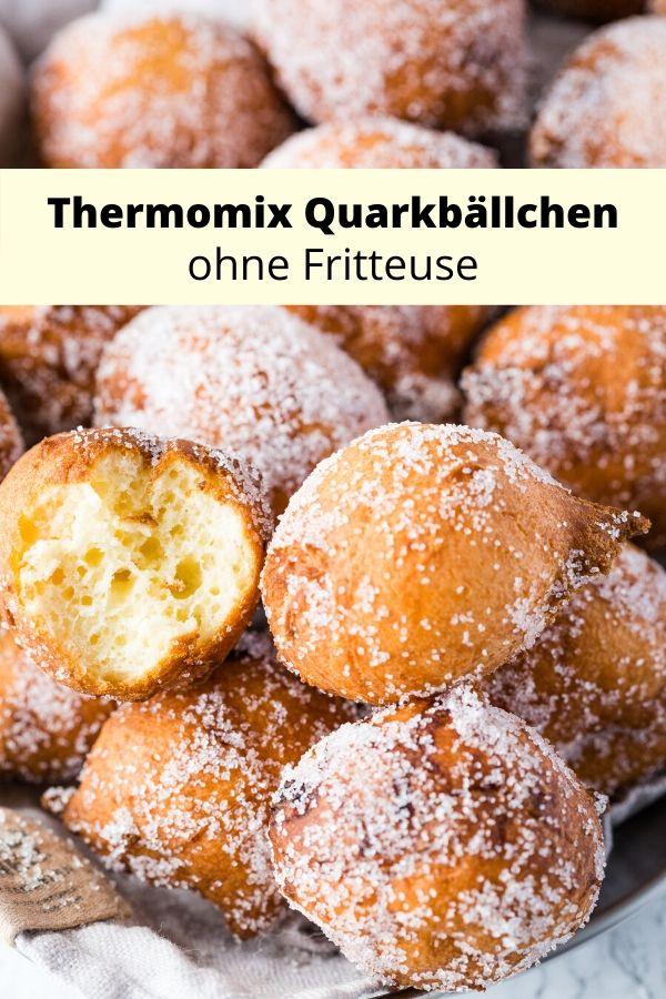Thermomix Quarkbällchen Rezept ohne Friteuse. Ein kinderleichtes Rezept mit Tipps- wie es garantiert gelingt